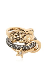 Roberto Cavalli Swarovski Stacked Ring