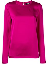 Tom Ford Long Sleeved Blouse Pink Purple