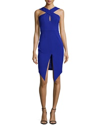 Keepsake Tainted Romance Sleeveless Dress Cobalt