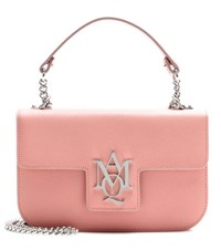 Alexander Mcqueen Insignia Chain Leather Satchel Pink