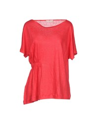 Stefanel T Shirts Red