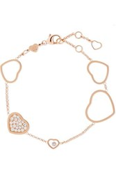 Chopard Happy Hearts 18 Karat Rose Gold Diamond Bracelet