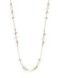 Azaara 2 4Mm Baroque Pearl And Rock Crystal Beaded Necklace Gold Pearl