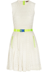 Preen Line Akka Belted Embroidered Tulle Dress