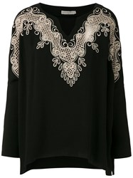 Martha Medeiros Kimora Lace Blouse Black