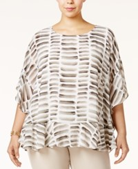 Alfani Plus Size Ruffled Poncho Top Only At Macy's Watercolor Stone
