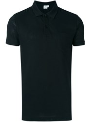 Sunspel Classic Polo Shirt Black