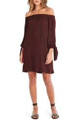 Michael Stars Women's Tie Sleeve Shift Dress Bourbon