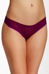 Kensie Mattie Low Rise Lace Thong Red