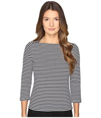 Kate Spade 3 4 Sleeve Stripe Everyday Tee Black Women's T Shirt