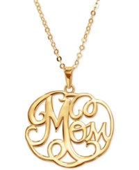 Macy's Scroll Word Pendant Necklace In 14K Gold