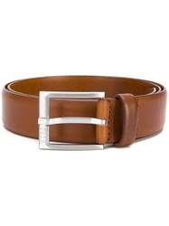 Hugo Boss Classic Logo Buckle Belt Brown