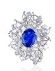 Anna Hu Haute Joaillerie Butterfly Collection Butterfly Waltz Ring In Sapphire Blue