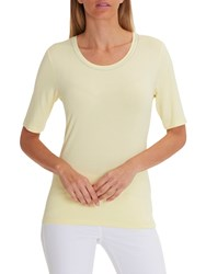 Betty Barclay Embellished Neckline T Shirt Pastel Yellow