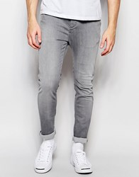 Selected Homme Jeans In Skinny Fit Gray
