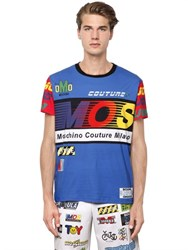 Moschino Cycling Printed Cotton Jersey T Shirt