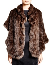 Maximilian Knitted Sable Stole With Ruffled Trim Bloomingdale's Exclusive Uptone