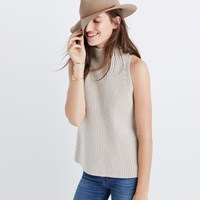 Madewell Mockneck Sweater Vest Clean Stone