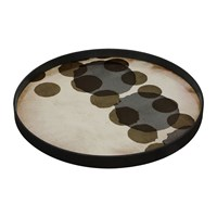 Notre Monde Slate Layered Dots Glass Tray Round Large