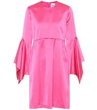 Edit Satin Dress Pink