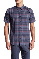 Ourcaste Kevin Short Sleeve Plaid Shirt Gray