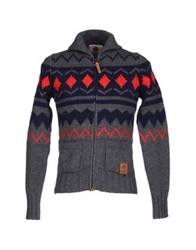 Franklin And Marshall Cardigans Steel Grey