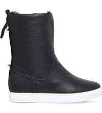 Kg By Kurt Geiger Scorpio Leather High Top Trainers Black