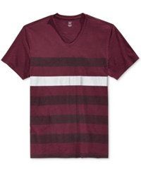 Inc International Concepts Men's Metallic Stripe T Shirt Only At Macy's Vintage Wine