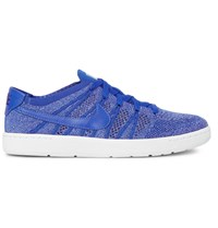 Nike Tennis Classic Ultra Leather Trimmed Flyknit Sneakers Blue