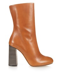 Chloe Leather Calf Length Boots