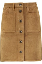 Rag And Bone Suede Mini Skirt Tan