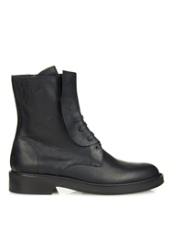 Y's By Yohji Yamamoto Lace Up Leather Ankle Boots