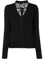 Sacai Lace Back Cardigan Black