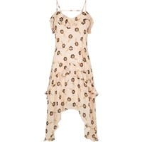 River Island Womens Beige Floral Print Slip Dress