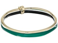 Alexis Bittar Liquid Metal Paired Bangle Jungle Green Bracelet Olive