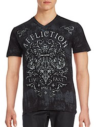 Affliction Dark Consequence Short Sleeve T Shirt Black