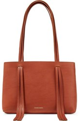 Mansur Gavriel East West Mini Fringed Leather Tote Tan