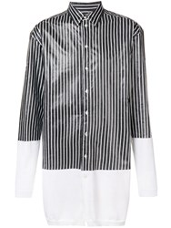 Y Project Oversized Stripe Panel Shirt White