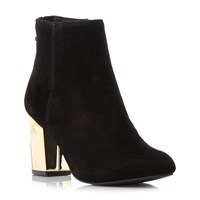 Steve Madden Cynthia G Sm Gold Heel Ankle Boots Black