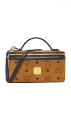 Mcm Box Cross Body Bag Cognac