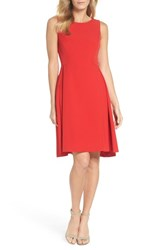Maggy London Crepe Fit And Flare Dress Rose Trellis