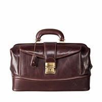 Maxwell Scott Bags The Donnini S Small Luxury Leather Medical Bag Chocolate Brown
