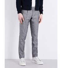 Slowear Slim Fit Tapered Linen And Silk Blend Trousers Grey