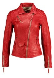 Freaky Nation Blind Trust Leather Jacket Red