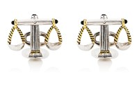 Jan Leslie Scales Of Justice Cufflinks Silver