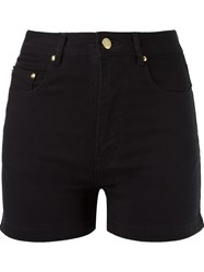 Amapa High Waist Denim Shorts Black