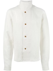 J.W.Anderson Standing Collar Buttoned Jacket White