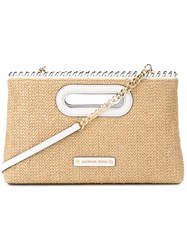 Michael Michael Kors 'Rosalie' Large Clutch Nude And Neutrals