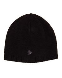 Penguin Hawks Reversible Beanie Hat Black