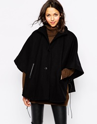 Sessun Porthos Cape In Black